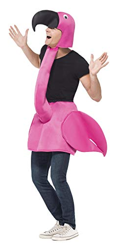 Smiffys - Disfraz flamenco rosa para adulto Talla única