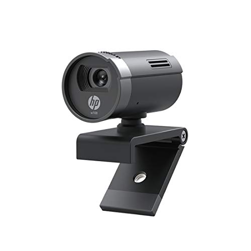 HP w100 480p/30 Fps Webcam, Built-in Mic, Plug and Play, Wide-Angle View for Video Calling, Skype,...