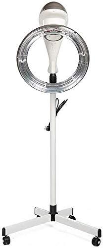 950W Orbital Stand Up Casco Secador de Pelo Calentador Campana Profesional Pelo Color Procesador Y Calentador Acelerador con Base Digital Controlar Peluquería Equipo,Gray