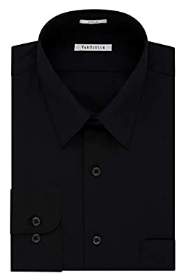 Wrinkle Free: Developed for less wrinkles and easy care Regular Fit: A generous cut through the shoulders, chest and waist for total comfort and a classic fit. This fit is simillar to a full cut fit. Point Collar: Classic collar thought to lengthen t...