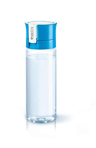 BRITA fill&go Vital Wasserfilter-Flasche, Praktische Trinkflasche mit Wasserfilter für unterwegs aus BPA-freiem Kunststoff, blau