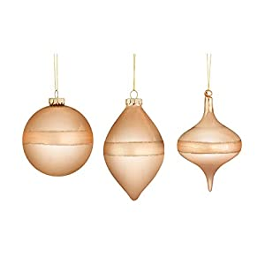 Classic christmas ornaments Perfect addition to any holiday decor Set of 6Specifications Material: 100% Glass Produced with the highest grade materials