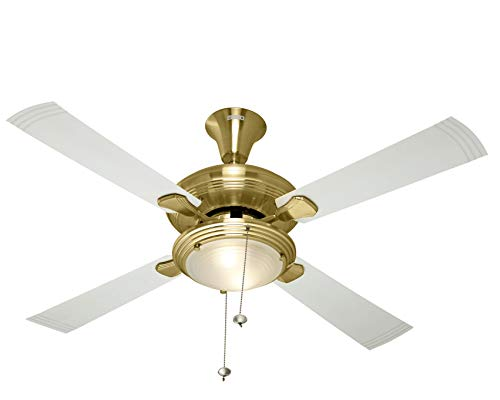 Usha Fontana One 1270mm Ceiling Fan with Decorative Lights (Gold with Ivory Blades)