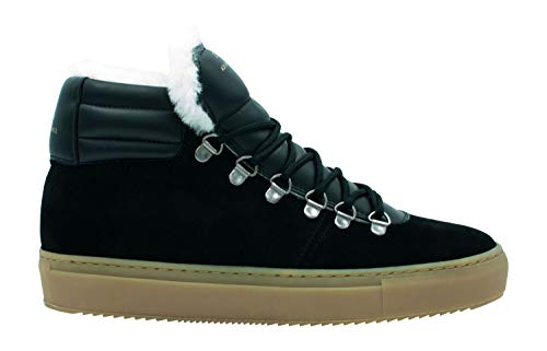 Zespà Damen Sneaker ZSP2 Suede Lining Shearling Black - 39