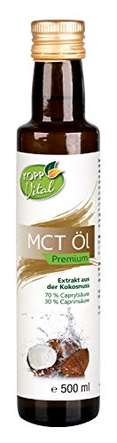 Kopp Vital MCT-Öl | Premium Qualität | vegan | 1x 500 ml | Ohne Gentechnik | Extrakt aus der Kokosnuss | geschmacksneutral