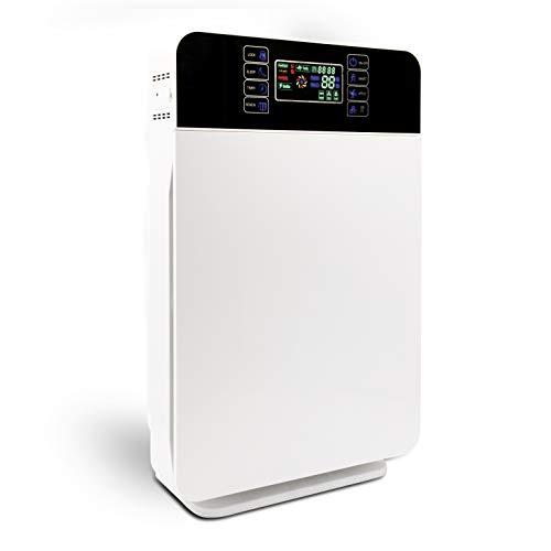 Livington AirPurifier   Luftreiniger bis zu 30m2   6-Filter-System   zuschaltbar: UV- und IONEN-Filter   Automatik-Funktion   3 Stufen   Timer   entfernt 99% aller Partikel   Das Original aus dem TV