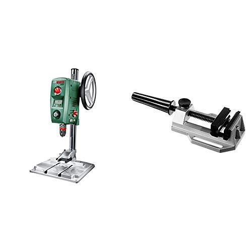 Bosch PBD 40 Trapano a Colonna, 710 W, perAcciaio e Legno, 13 mm e 40 mm, in Cartone + Bosch 2608030055 Morsa MS 80, Apertura 80 mm