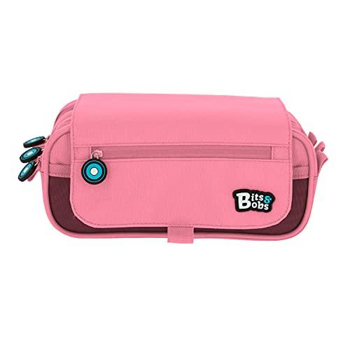 Grafopls 37543253 Astuccio a tre cerniere con patta, colore: rosa pastello, 23 x 10 x 10 cm, Bits & Bobs.