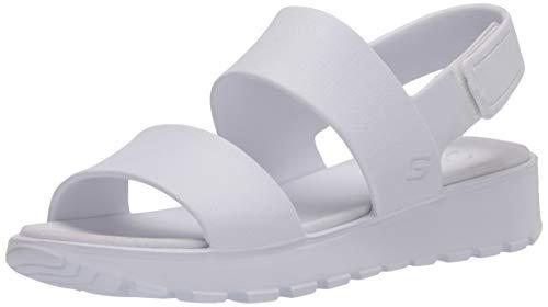 Skechers Footsteps-Breezy Feels, Sandalias de Talón Abierto Mujer, Multicolor (Wht Aqua Molded Eva), 39 EU