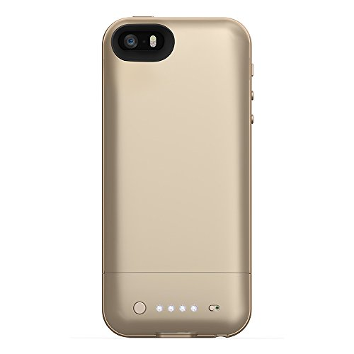 mophie 2108 Juice Pack Air External Rechargeable Cell Phone Battery Case for iPhone 5/5s/SE (1,700 mAh) - Gold