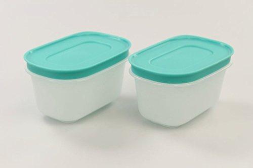 Tupperware 33203 - Contenitori per congelatore, 170 ml, 2 pezzi, colore: Bianco menta/Verde menta
