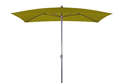 Doppler Absolut wasserdichter Gartenschirm Waterproof 225x120 Pistazie ohne Volant, UV-Schutz 80, Made IN Austria