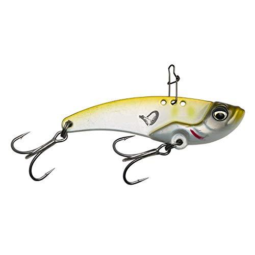 Savage Gear VIB BLADE 4,5 cm 8,5 g  Esca da spinning per pesce persico, luccioperca e luccio, esche in metallo per pesca a spinning, esche artificiali, colore: Green Silver Ayu
