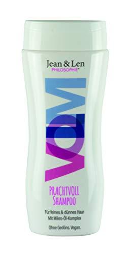 Jean & Len Shampoo gradevole, il micro-olio nutre & la proteina del pisello forma un film protettivo intorno ai tuoi capelli, 230 ml, 1 pezzo