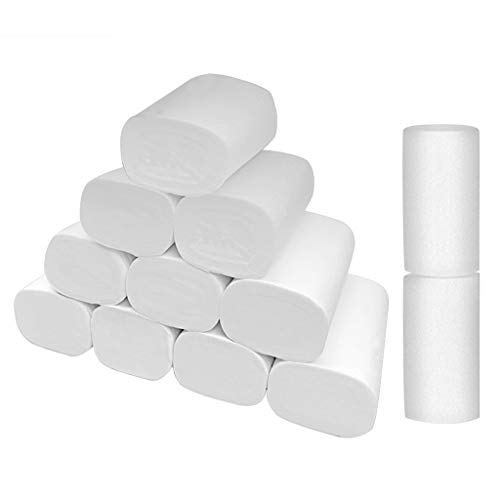 Coersd Paper Kitchen Towels New Roll Paper Strong Soft 4-Ply Toilet Paper Bath Tissue Giant Roll 12 Rolls