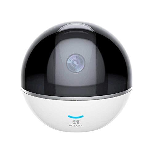 EZVIZ C6TC Telecamera WiFi Motorizzata con centrale di allarme integrata, Risoluzione Full HD 1080p, Audio Bidirezionale parla e ascolta, bianco