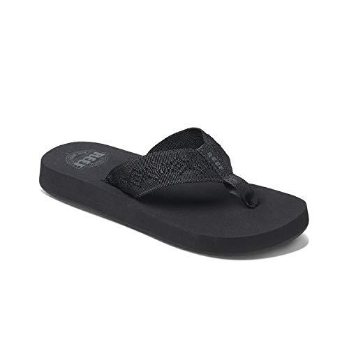 Reef Women's Sandals Sandy | Water-Friendly Flip Flops for Everyday Use | Black/Black | Size 9