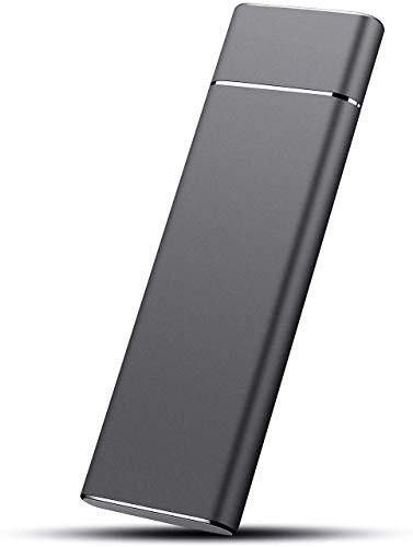 Hard disk esterno portatile da 1 TB/2 TB, disco rigido esterno per PC, Mac, laptop e Smart TV Nero 2...