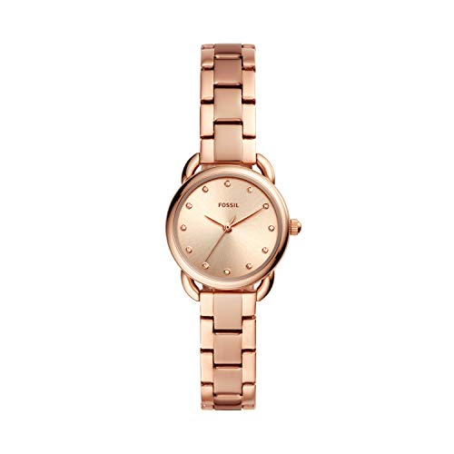 Fossil Damen Analog Quarz Uhr mit Edelstahl Armband ES4497