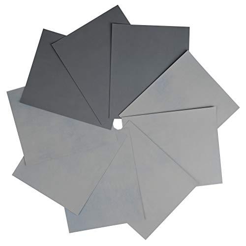 TIMESETL 9Stück Schleifpapier Sandpapier Set mit Körnung 3000 5000 7000, 9x11 Zoll Schleifpapier Sortiment nass und trocken zum Polieren und feinen Schleifen für Metall Glas Stein Jade Leder Lack Holz