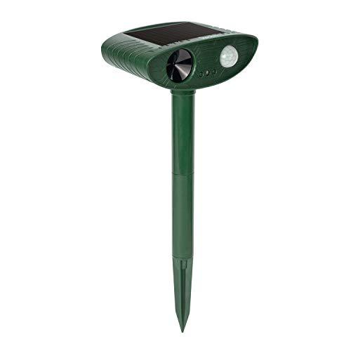 Redeo Outdoor Solar Cat Repellent Ultrasonic Animal Repeller Dog Deer Deterrent Scarecrow for Garden Yard with Motion Sensor - Scare Birds Away (Dark Green)