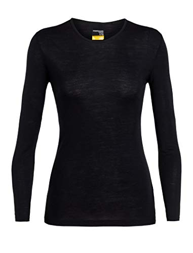 Icebreaker Merino Women's 175 Everyday Long Sleeve Crewe , Black, M