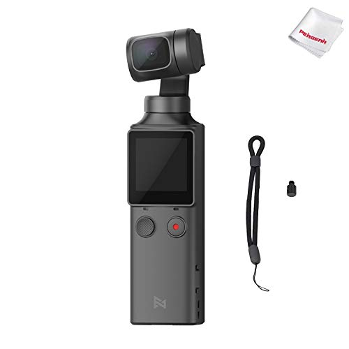 FIMI Palm XIAOMI 3 Axis Gimbal Stabilizer with 4K Smart Camera, 128° Ultra Wide Angle Lens, 120g, Wi-Fi & Bluetooth Connection, Built-in Microphone and External MIC Supported
