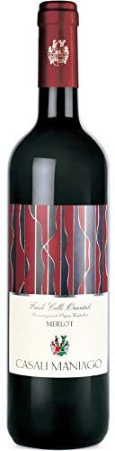 CASALI MANIAGO Vino rosso MERLOT BOTT. 75 CL - IMBALLO DA 6 BOTTIGLIE DA 75 CL