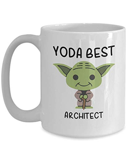 Yoda Best Architect Profession mug - Novelty Gift Mugs for...