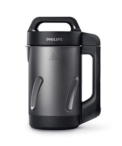 Philips Kitchen Appliances Philips Soup Maker, Makes 2 - 4 Servings, HR2204/70, 1.2 Liters, Black and Stainless...