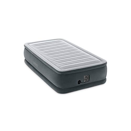 Intex Comfort Plush Elevated Dura-Beam Airbed with Internal Electric Pump, Bed Height 18', Twin