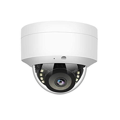 Cámara IP WiTi 5MP POE, cámara domo de vigilancia de seguridad con micrófono de audio, detección de movimiento de lente gran angular de 2.8 mm, metal sólido ONVIF IP66