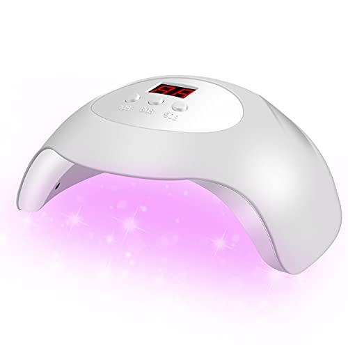 UV LED Nail Lamp, DELIFO 36W Professional Gel Nail Light Dryer Polish Lamps with 3 Timers & Auto Sensor, Portable Nails Art Tools for Salon, Home, Regular Use, White