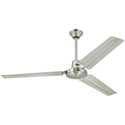 Westinghouse Lighting 7861400 Industrial 56-Inch Three-Blade Indoor Ceiling Fan, Brushed Nickel with Brushed Nickel Steel Blades