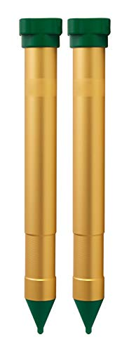 Gardigo Maulwurfvertreiber Vibrasonic 2er Set | Maulwurfabwehr mit Vibrations-Motor | Maulwurfschreck, Batteriebetrieben | Wühlmausvertreiber und Ameisenabwehr