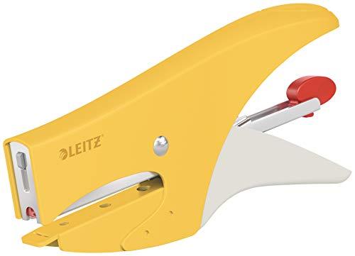 Leitz Cucitrice a pinza, Capacit 15 fogli, Caricamento posteriore, Incl. punti P1 (No. 8), Gamma Cosy, Giallo Caldo, 56440019