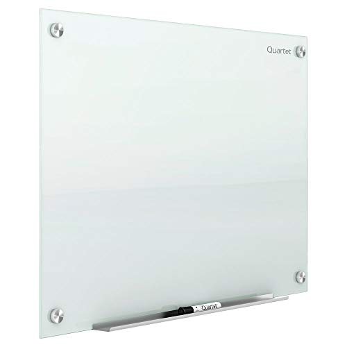 Quartet Glass Whiteboard, Non-Magnetic Dry Erase White Board