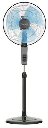 Rowenta VU4110 Essential Standventilator, energiesparend, umweltfreundlich, leise, 60 Watt, schwarz/blau