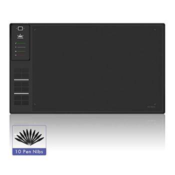 HUION Giano WH1409 Tablette Graphique Sans fil avec stylet 8192 Niveaux de Pression, 12 Touches de Raccourci, 350 * 218 mm