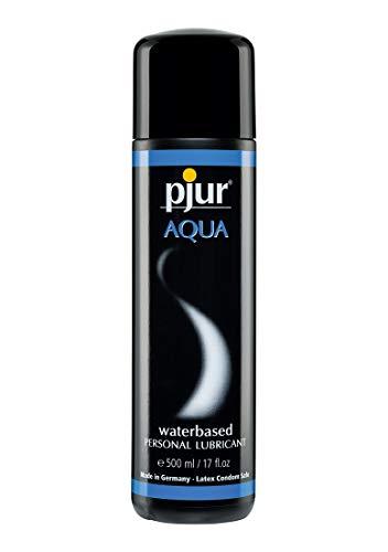 pjur AQUA - Premium-Gleitgel auf Wasserbasis - exzellente Gleiteigenschaften, spendet Feuchtigkeit,  ohne zu kleben - auch für Sex Toys - 1er Pack (1x 500 ml)
