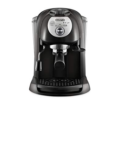 De'Longhi EC 201.CD.B Macchina da Caffè per Espresso e Cappuccino, Caffè in Polvere o in Cialde E.S.E., 1100 W, Nero