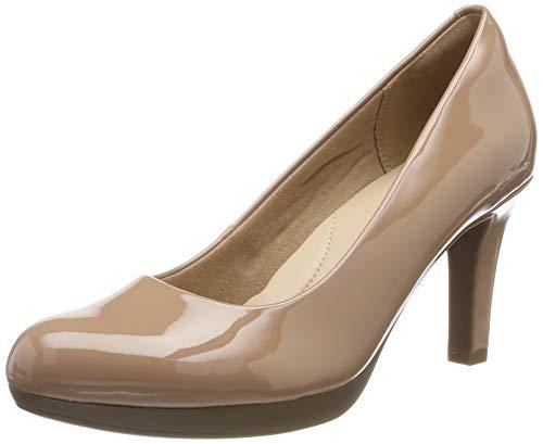Clarks Adriel Viola, Zapatos de Tacón Mujer, Beige (Praline Patent Praline Patent), 40 EU