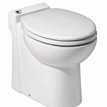 Saniflo 023 Sanicompact Self-Contained Toilet, White,18.2 x 14.5 x 15.8 inches