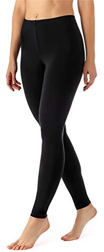 Merry Style Damen Lange Leggings aus Viskose MS10-143 (Schwarz, M)