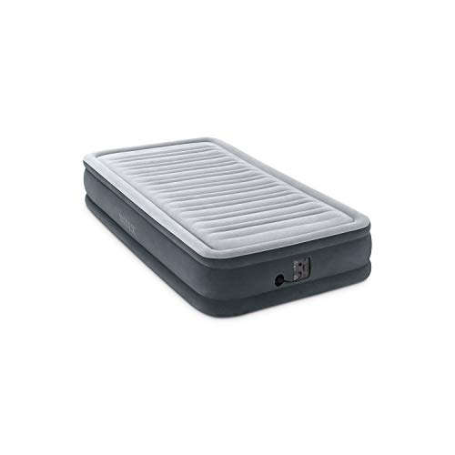Intex Comfort Plush Mid Rise Dura-Beam Airbed with Internal Electric Pump, Bed Height 13', Twin