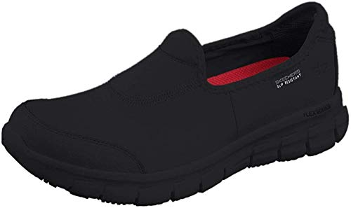 Skechers Women Sure Track Work Shoes, Black (Black Leather Bbk), 4 UK (37 EU)