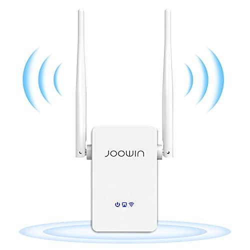 JOOWIN Répéteur WiFi, 300Mbps Amplificateur WiFi Extenseur sans Fil Mode Repeater/Routeurs/AP Interface Port Ethernet Protection WPS Facile à Installation
