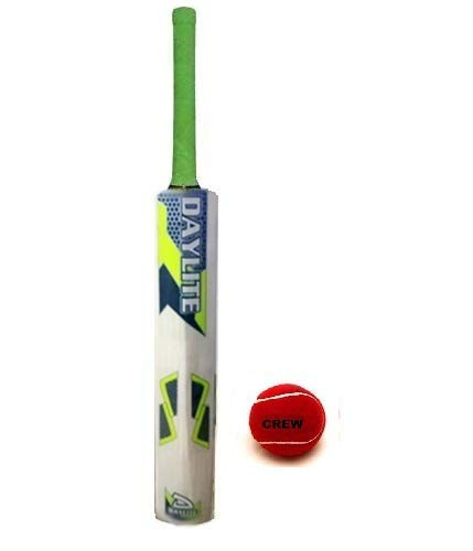 AVS Pro 1 Kids Wooden Cricket Bat with Free Ball Kids Size 4. for 6-10 Years Boys