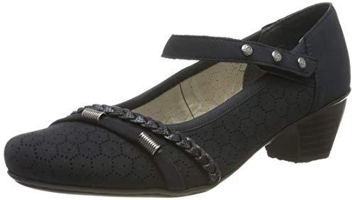 Rieker 41777-14, Zapatos de Tacón Mujer, Azul (Pazifik/Nightblue 14), 36 EU