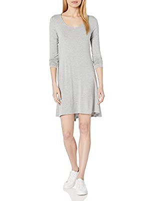 A versatile long-sleeve dress with a V-neckline and flared silhouette that easily transitions from day to night Luxe Jersey - Perfectly rich, smooth fabric that beautifully drapes Slightly dropped hem, center back seam Start every outfit with Daily R...